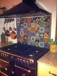 mexican tile kitchen ideas mexican tile island marine plywood butcher block top and mexicans