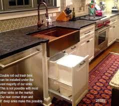 garbage can under the sink under sink garbage can canada sink ideas