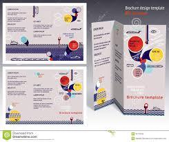 brochure booklet z fold 2 side layout editable design template
