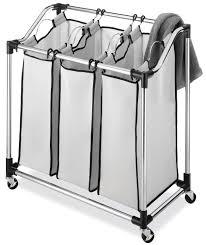 Sorter Laundry Hamper by Amazon Com Whitmor 6862 3260 Chrome Laundry Sorter With Foam Mesh