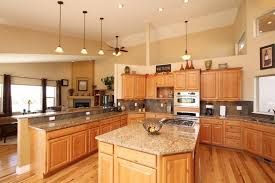 Discount Hickory Kitchen Cabinets Hickory Kitchen Cabinets And Flooring With Island Home Design