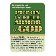 pocket cards armor of god pocket card be strong in the lord ephesians 6 10