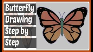 butterfly drawing step by step how to draw a butterfly easy step