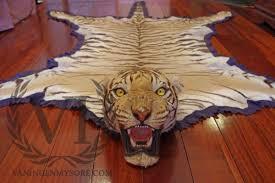 tiger skin rug van ingen hunting