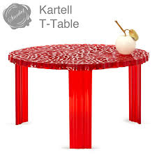 Red Round Coffee Table - t table table 310 kartell