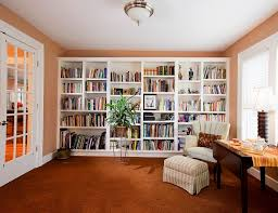 modern custom home library design small home office library simple