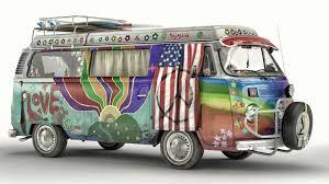 van volkswagen hippie artstation vw t2 hippie van artem yuldashev