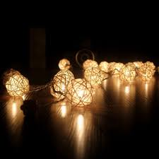 warm led christmas lights 20 led warm white rattan ball string fairy lights for christmas xmas