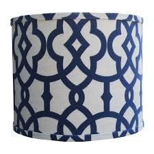 Blue Chandelier Shades Navy Fretwork Lamp Shade By Doodlefish Rosenberryrooms Com