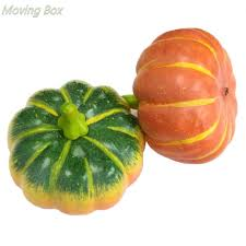 buy moving box 1pc artificial fall curved pumpkin fake green