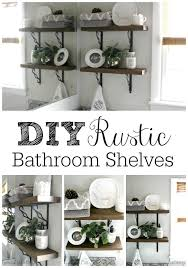 shelf ideas for bathroom diy rustic bathroom shelves hometalk