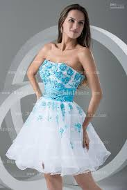 2013 real images white charming short prom dress a line blue