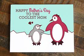 happy mother u0027s day to the coolest mom u2013 cute penguin greeting