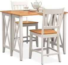 Outdoor Counter Height Chairs Nantucket Breakfast Bar And 2 Counter Height Slat Back Chairs