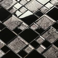 aliexpress com buy black gold foil electroplate mosaic tiles