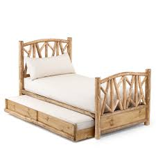 Pictures Of Trundle Beds Rustic Trundle Bed 4510l 4514r La Lune Collection
