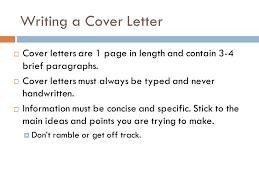 writing a cover letter career education u2013 harrison center ppt