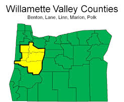 Oregon Map Of Counties by Willamette Valley Oregon Office Of Economic Analysis