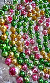 vintage glass bead christmas garland with indents arts and