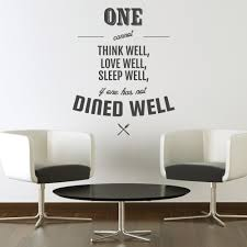 dine well kitchen wall sticker quote wall chimp uk wall chimp dine well kitchen wall sticker quote