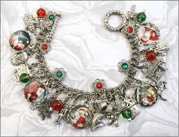 vintage charm bracelet necklace images Santa christmas vintage charm bracelet jpg