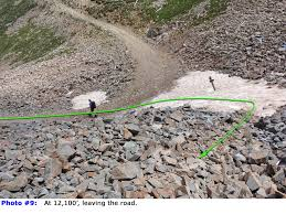 Map Of Colorado 14ers by 14ers Com U2022 Route Description Rock Of Ages Approach
