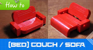 how to make a lego bed couch sofa moc basic youtube