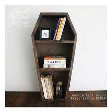 coffin bookshelf coffin shelf