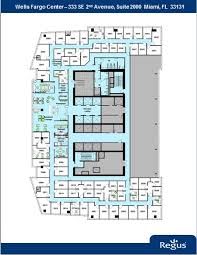 wells fargo center floor plan 333 avenue of the americas miami fl 33131 property for lease on