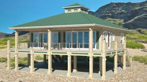 Stilt House Floor Plans Clearview 1600p U2013 1600 Sq Ft On Piers Beach House Plans By Beach