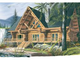 Log Home Floor Plans Prices Spencer Hill Luxury Log Home Plan 032d 0352 House Plans And More