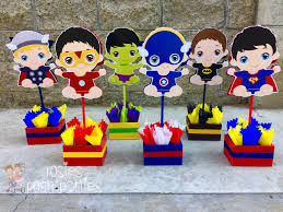 Centerpieces For Baby Shower by Baby Super Hero Centerpiece For Baby Shower Or Birthday Wood