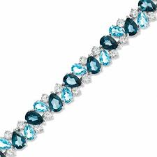 blue topaz bracelet images Blue and white topaz bracelet in sterling silver 7 25 quot blue jpg