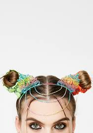 chain headband ears chained rainbow headband dolls kill