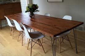 Modern Wood Dining Room Table Dining Table Reclaimed Wood Burnside Douglas Fir Stumptown 6 Ege