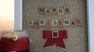 how to create a magical christmas scrabble art frame diy crafts
