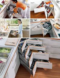 kitchen cabinet space corner storage space saving corner drawer designs designs ideas on dornob