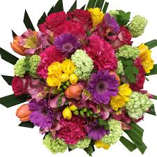 bouquets of flowers colourful bright mix flowers florist flowers delivery