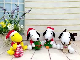 xmas gift new cartoon peanuts plush toys snoopy stuffed animals