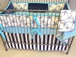 Blue And Brown Crib Bedding by Starfish Beach Crib Bedding Navy U0026 Aqua