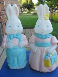vtg empire easter bunny basket lighted mold 25 indoor