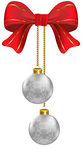 free clipart christmas ornaments silver colored collection