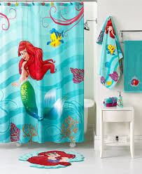 bathroom attractive mermaid shower curtain motif combined with