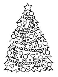 printable coloring christmas tree coloring