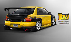 yellow subaru wrx subaru impreza sti by edcgraphic on deviantart