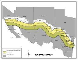 map us mexico border states map usa and mexico border major tourist attractions maps