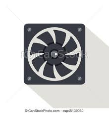 computer power supply fan computer power supply fan icon flat style computer power