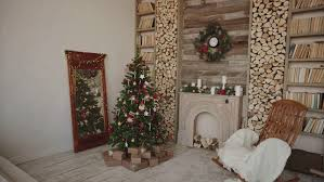 decorate christmas tree in bright bedroom time lapse put