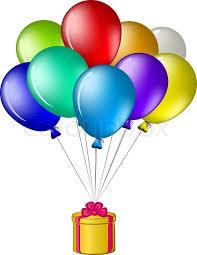 balloons gift balloons with a gift box stock vector colourbox