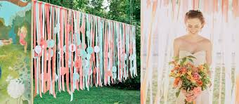 use ribbons for a lovely and cheap wedding decoration weddings